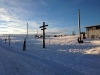 Winterlandschaft auf dem Reiterhof